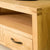 Pine corner joint view of The Abbey Waxed Oak Corner TV Stand by Roseland Furniture