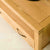 Topside corner view of The Abbey Waxed Oak Corner TV Stand by Roseland Furniture
