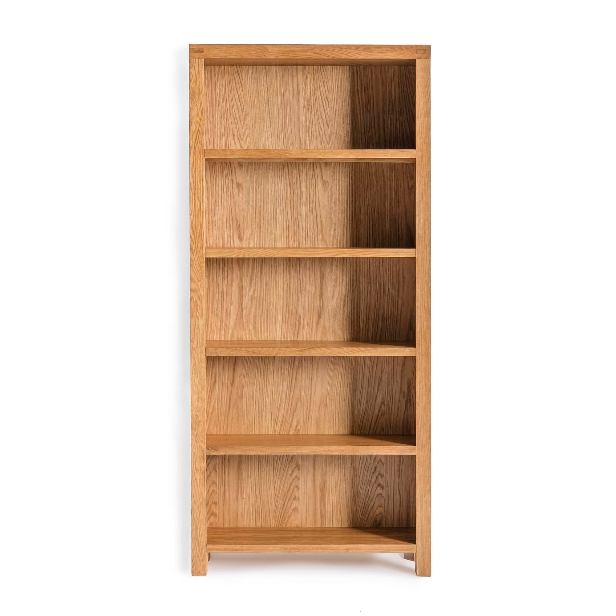 Abbey Waxed Large Wide Oak Bookcase by Roseland Furniture