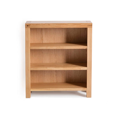 Abbey Waxed Small Low Oak Bookcase by Roseland Furniture