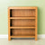 The Abbey Waxed Small Low Oak Bookcase from Roseland Furniture