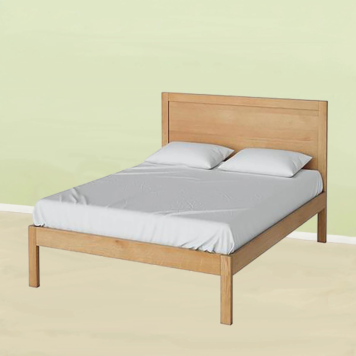 "Abbey Waxed or Surrey Oak 4'6"" Double Bed Frame from Roseland Furniture"