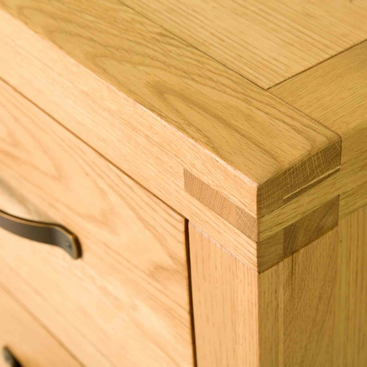Abbey Waxed Oak Tallboy Chest