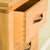 Dovetail drawer joint on The Abbey Waxed Oak Tallboy Chest of Bedroom Drawers