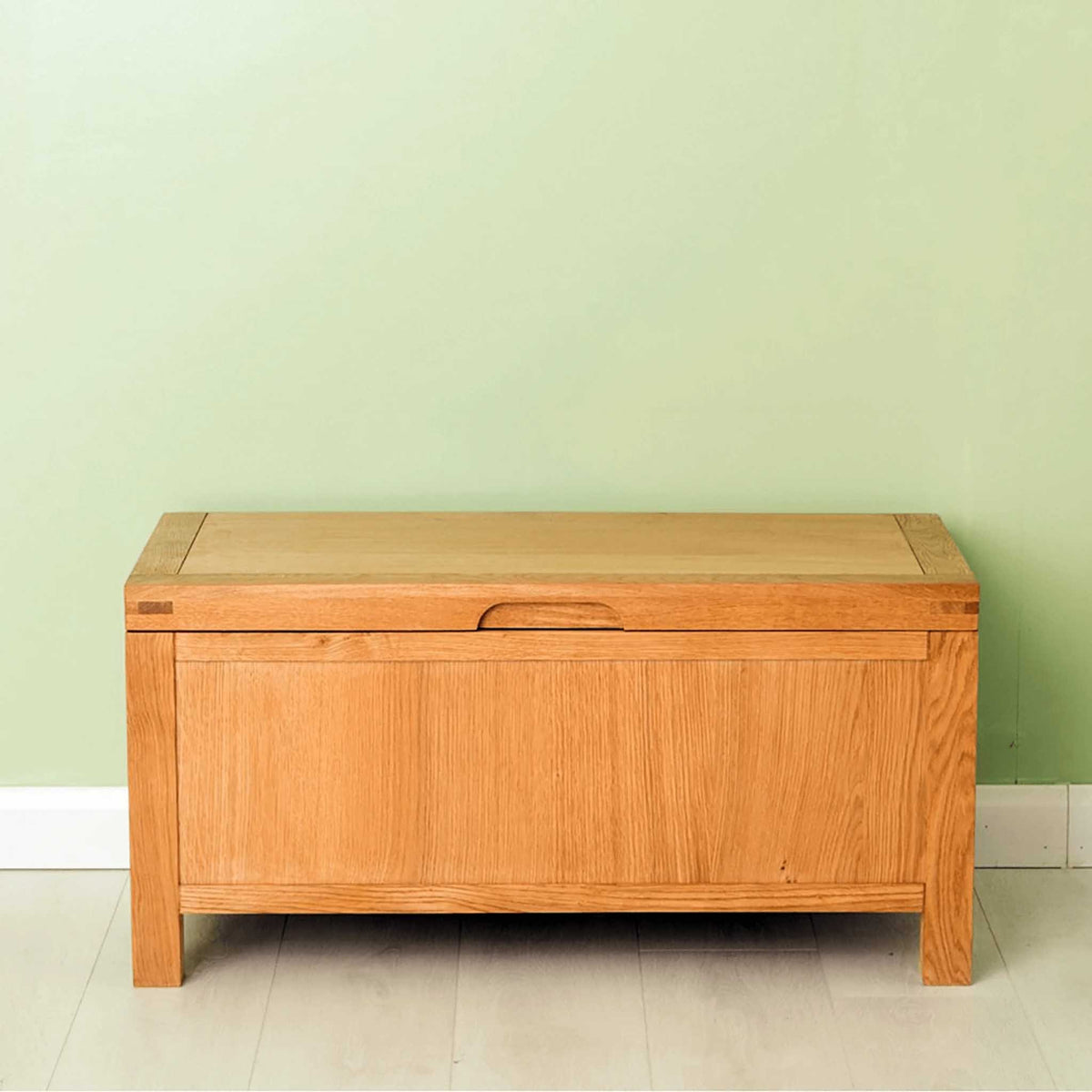 The Abbey Waxed Oak Ottoman Blanket Box from Roseland Furniture