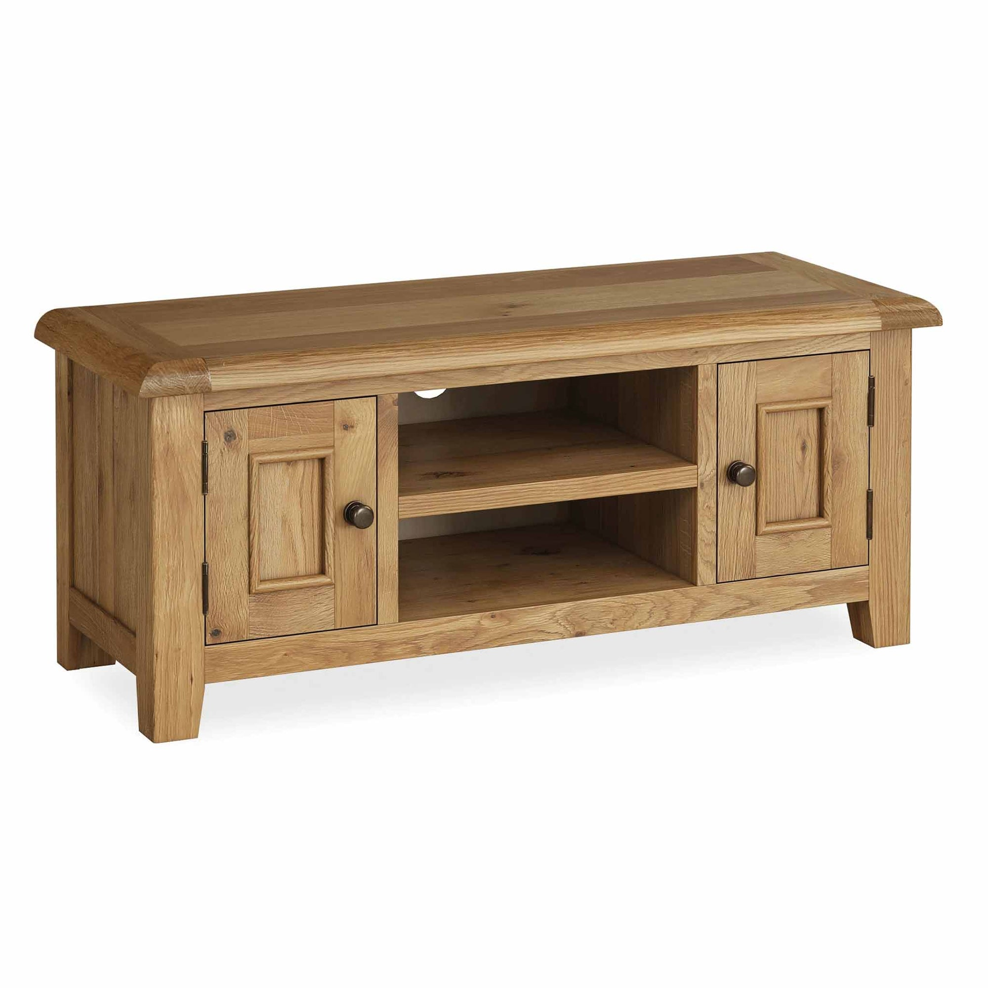 The Canterbury 120cm Oak TV Stand Storage Unit by Roseland Furniture