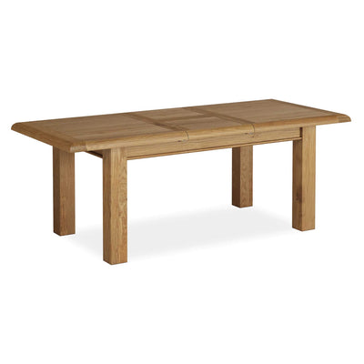The Canterbury Wooden Oak Extending Dining Table from Roseland Furniture