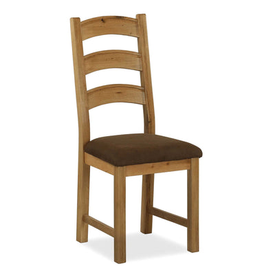The Canterbury Single Wooden Oak Dining Chair from Roseland Furniture