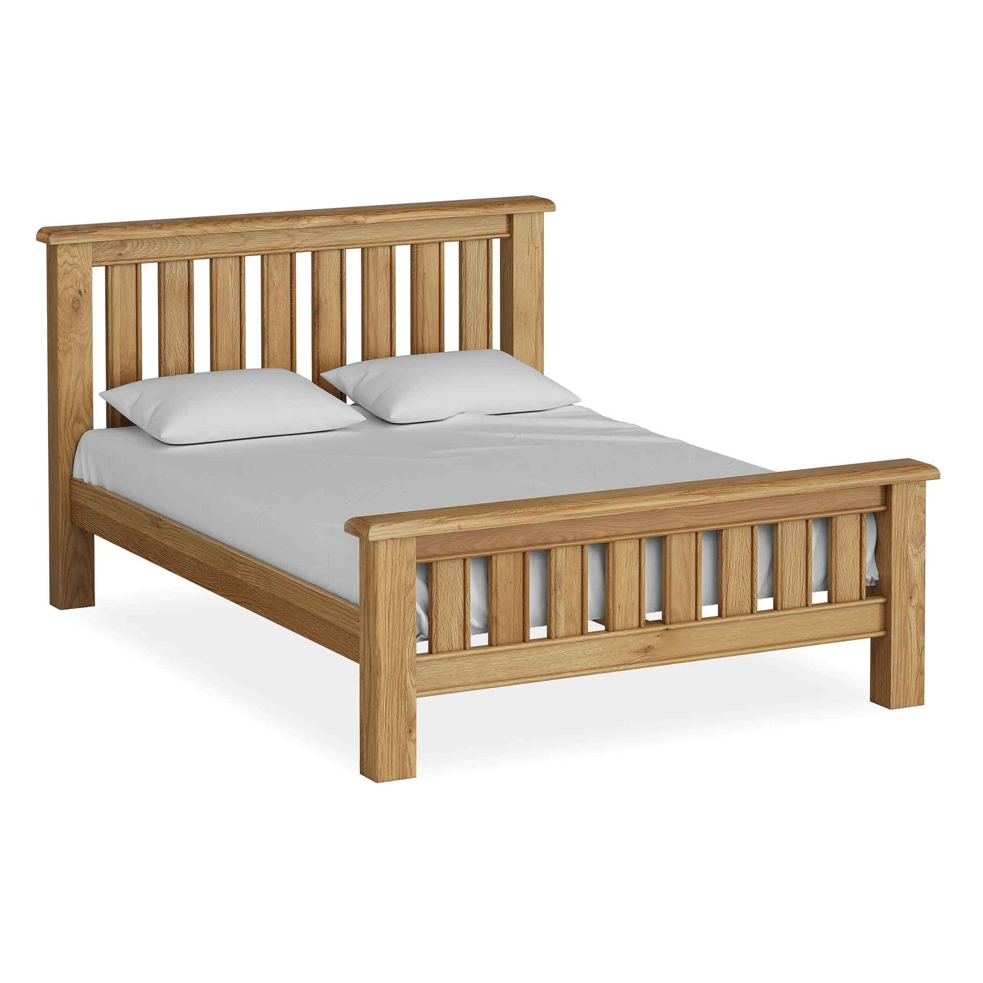 The Canterbury 5 ft King Size Oak Bed Frame from Roseland Furniture