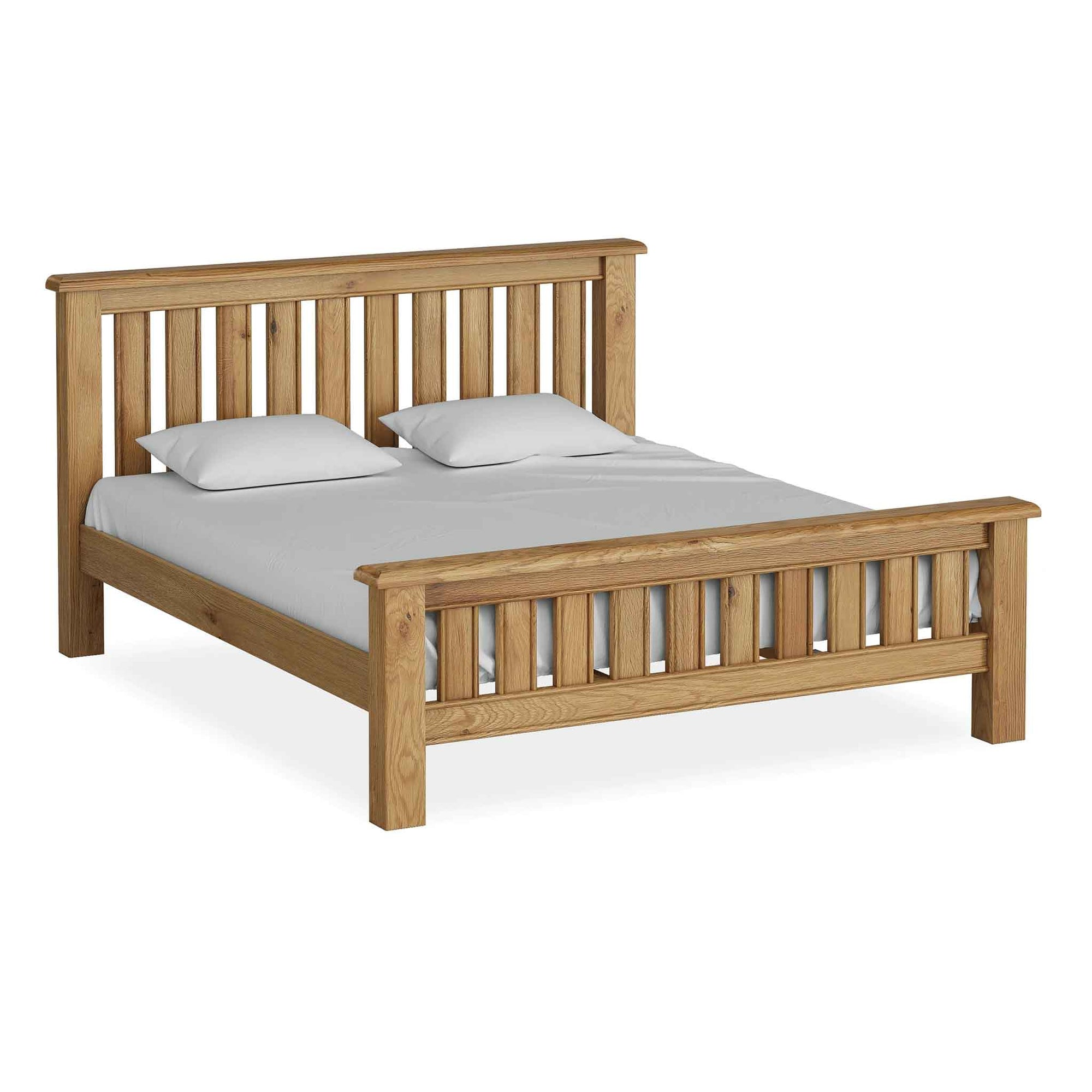 The Canterbury 6' Super King Size Oak Bed Frame from Rosleand Furniture
