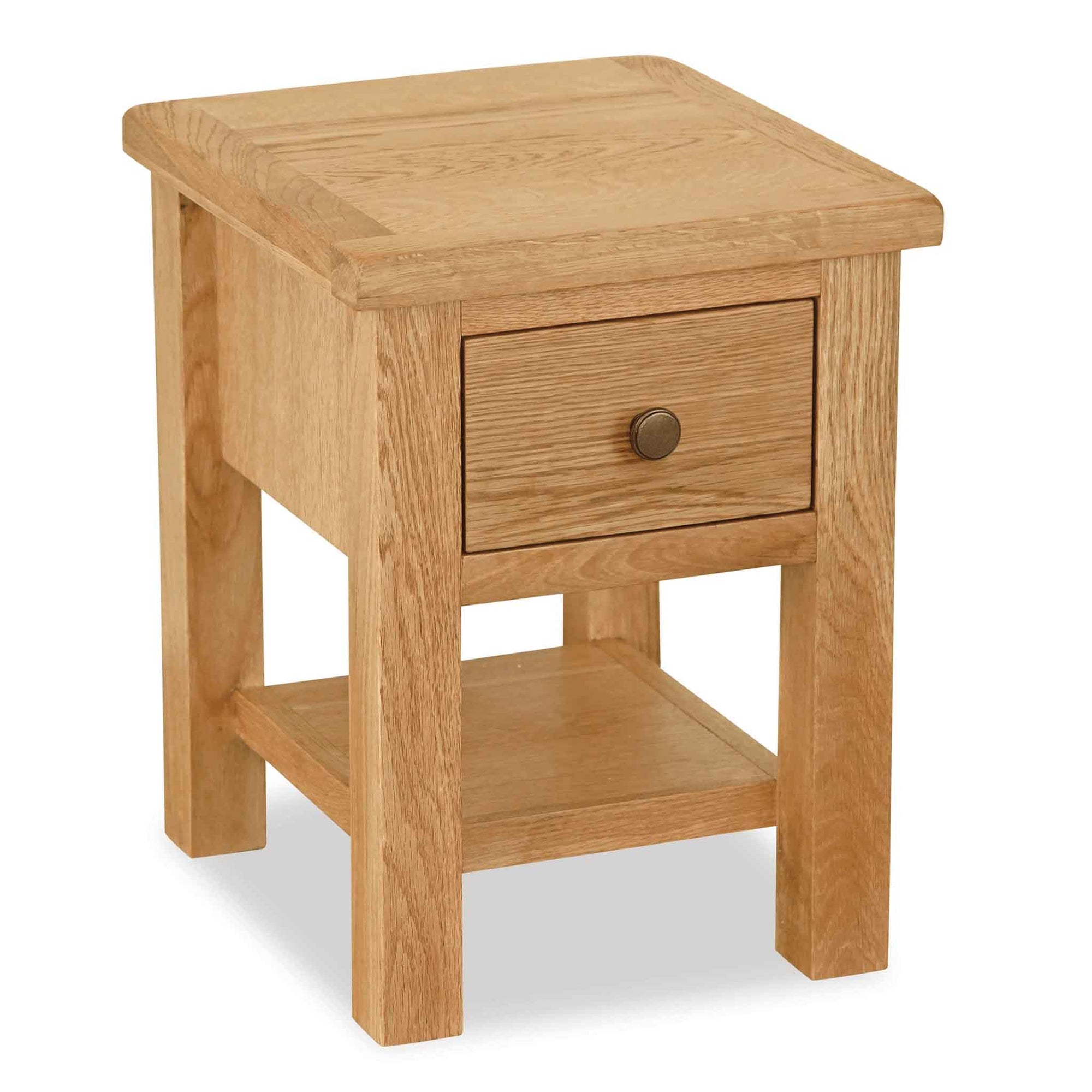The Cotswold Oak Side Lamp Table from Roseland Furniture