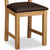 Cotswold Oak Dining Chair - Close up of Faux Leather pad and legs of chair