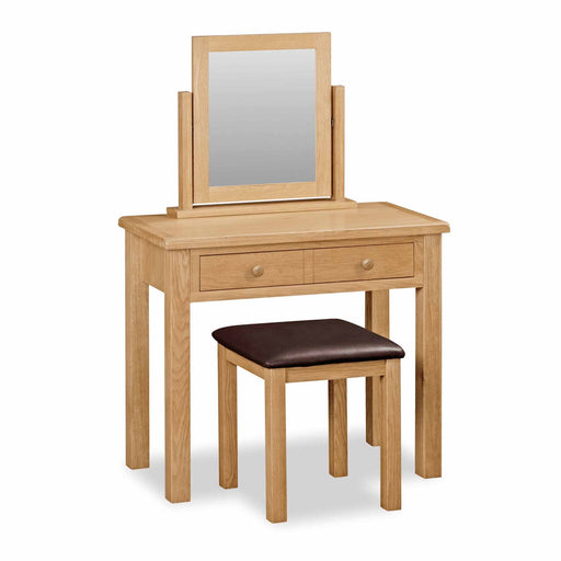 The Cotswold Oak Wooden Dressing Table from Roseland Furniture