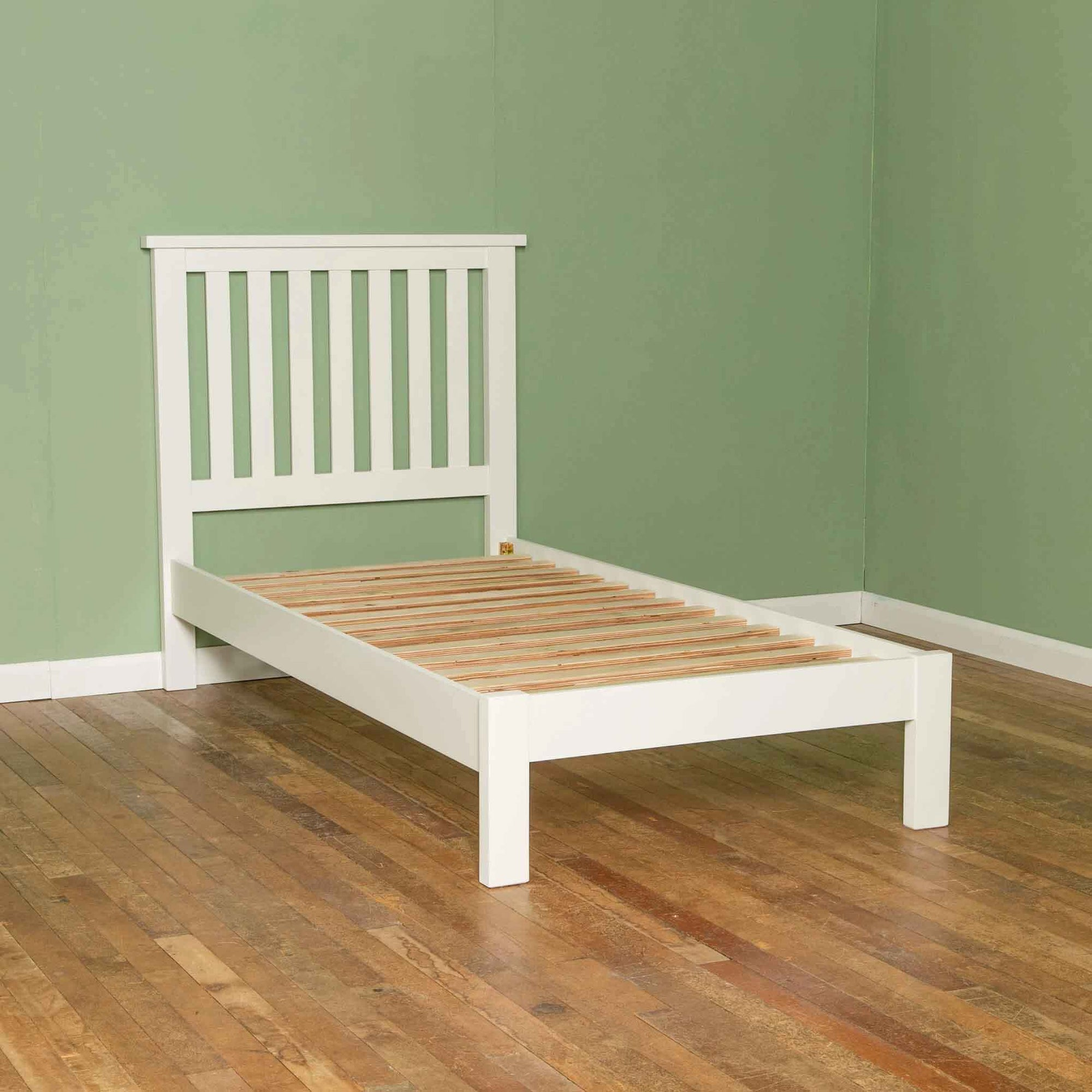 Cornish White 3 ft Single Wooden Bed Frame from Roseland Furniture