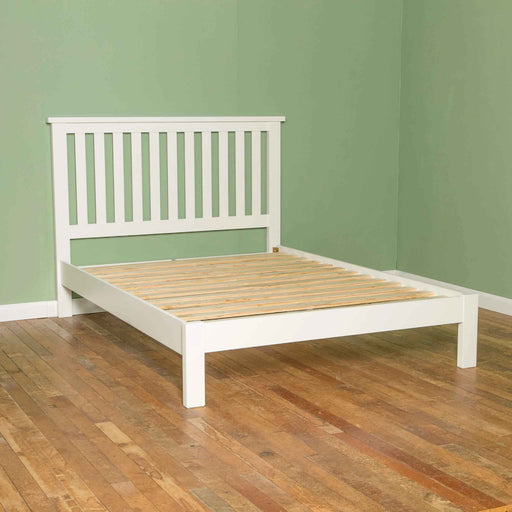 The Cornish White 4'6 ft Wooden Double Bed Frame from Roseland Furniture