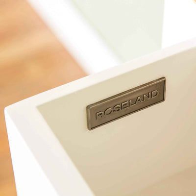 Roseland Furniture logo on The Cornish White Wooden 3 Drawer Bedside Table