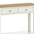The Windsor Cream Painted Console Table with Storage Drawers - Close Up of Drawer Fronts