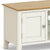 The Windsor Cream Small 90cm Oak Top TV Stand - Close Up of Cupboard Door
