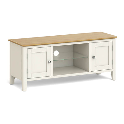 The Windsor Cream 120cm TV Stand Unit by Roseland Furniture