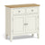The Windsor Cream Mini Sideboard Cabinet with Oak Top from Roseland Furniture