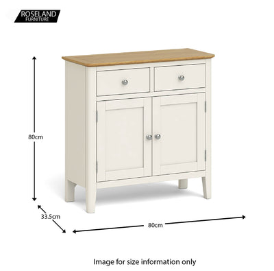 The Windsor Cream Mini Sideboard size guide