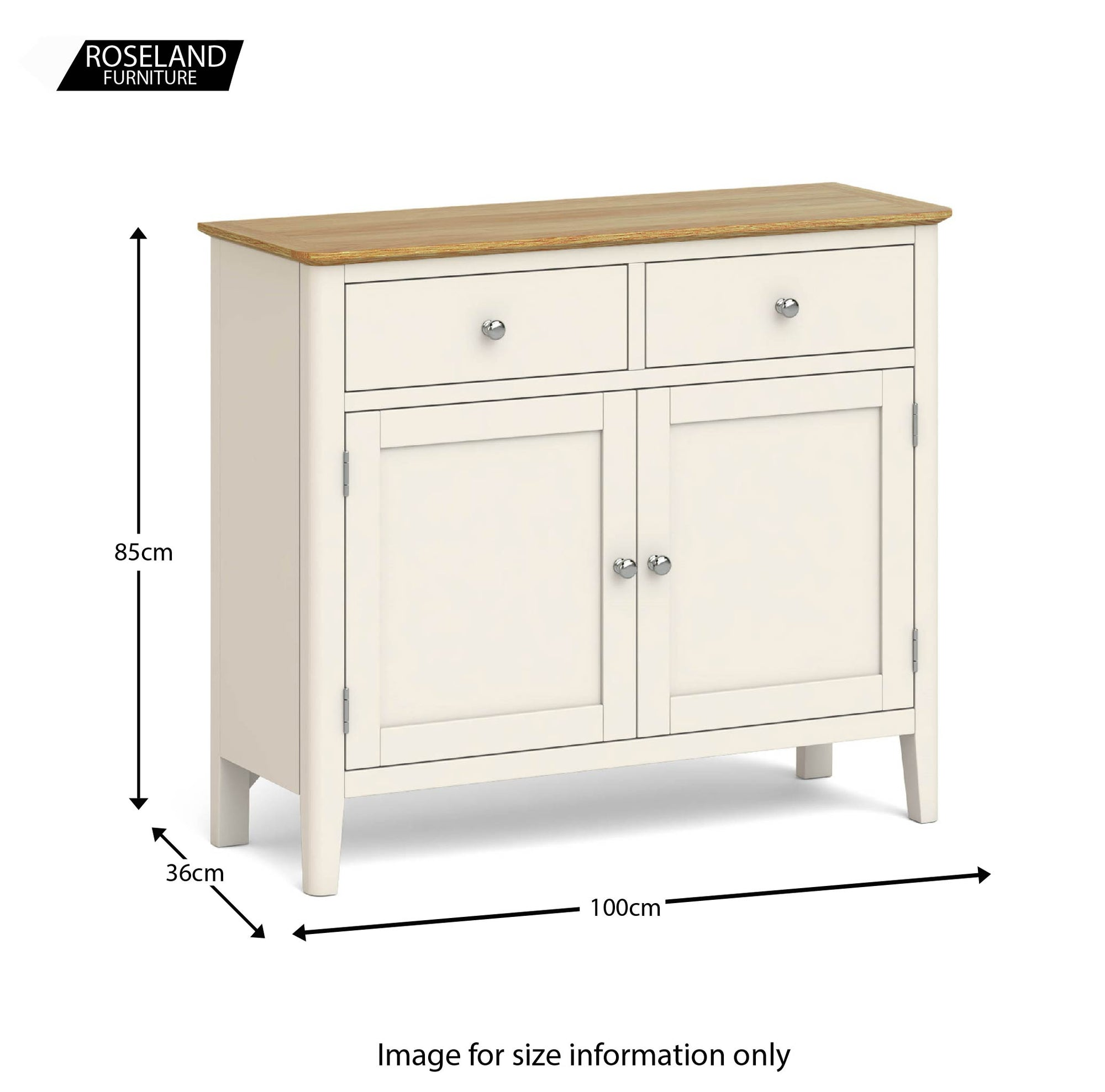 Picture of: Cream And Oak Small Sideboard Roseland Furniture