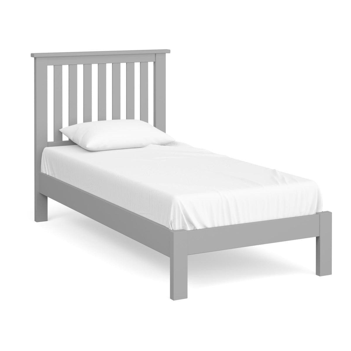 The Cornish Grey 3' Single Wooden Bed Frame from Roseland Furniture