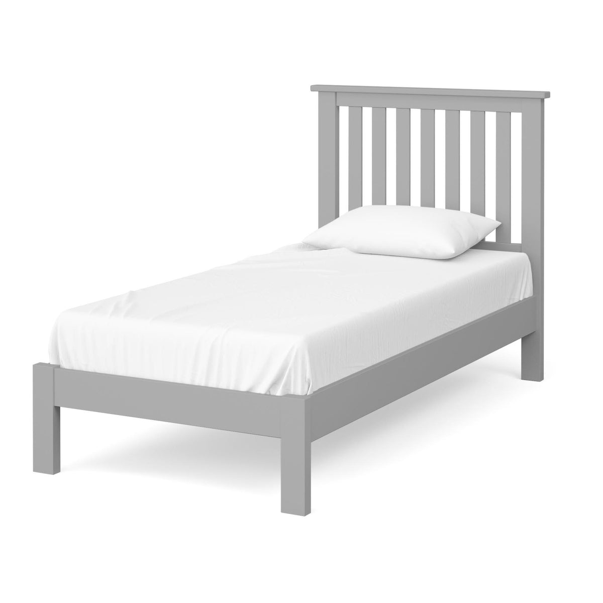 The Cornish Grey 3' Single Wooden Bed Frame