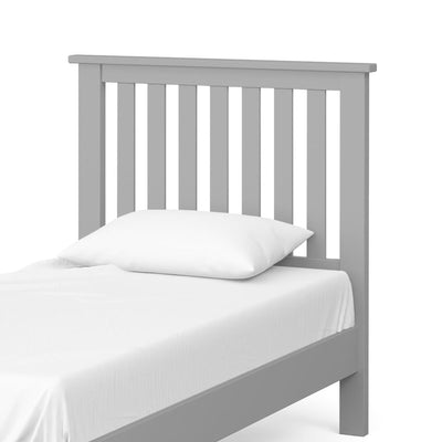 The Cornish Grey 3' Single Wooden Bed Frame - Close Up of Bed Head
