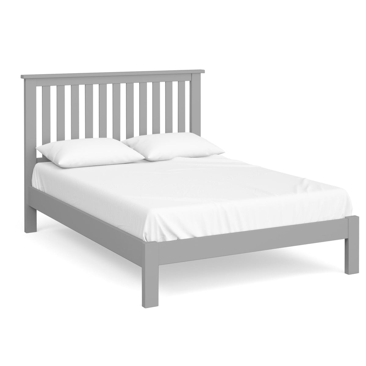 The Cornish Grey Wooden Double Bed Frame from Roseland Furniture