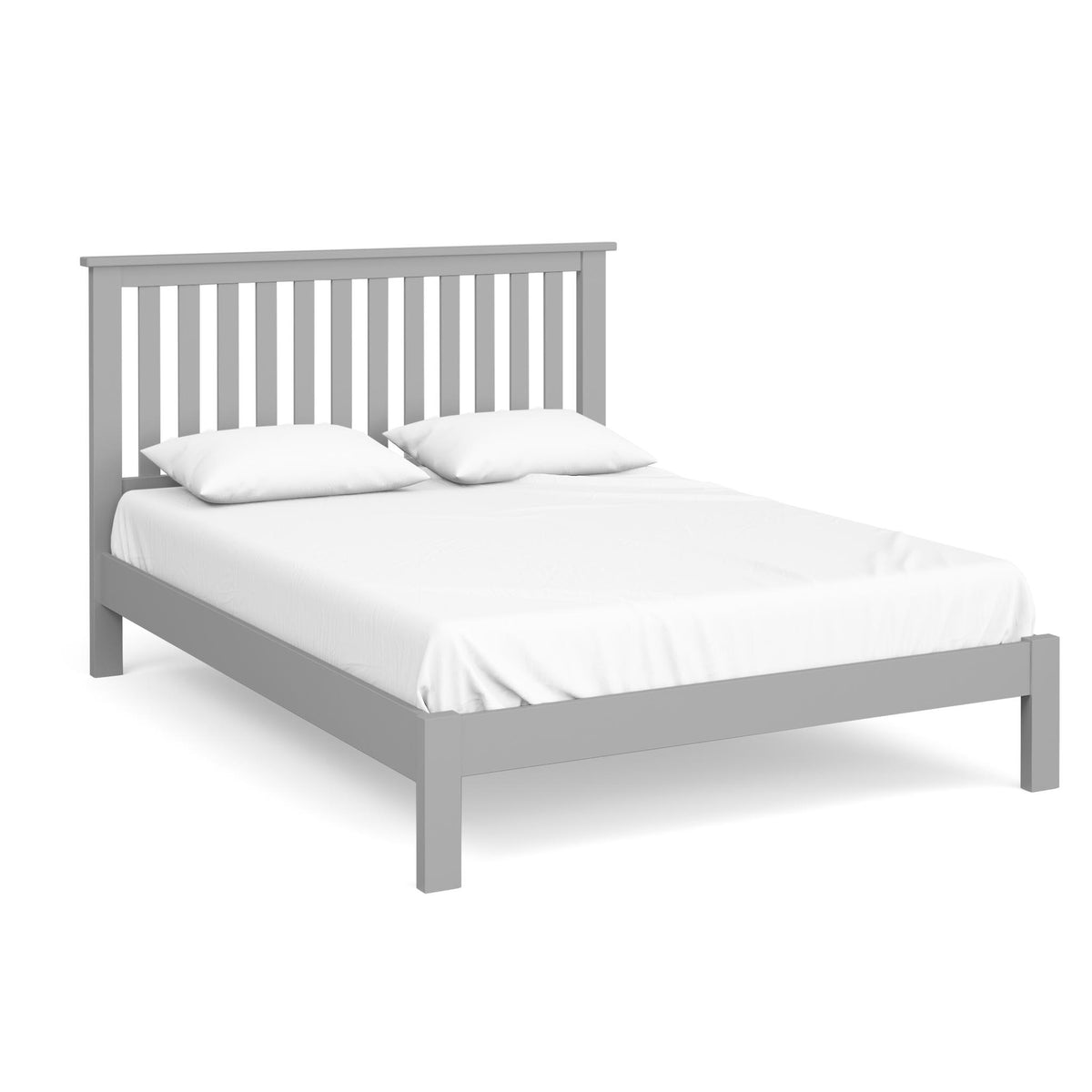 The Cornish Grey Wooden 5 Ft King Size Bed Frame from Roseland Furniture