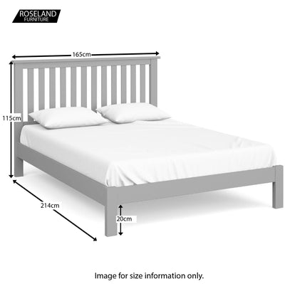Cornish Grey 5 Ft King Size Bed Frame - Size Guide
