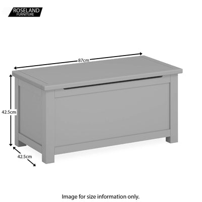Cornish Grey Blanket Box Ottoman - Size Guide
