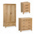 The Abbey Waxed Oak Bedroom Furniture Set by Roseland Furniture