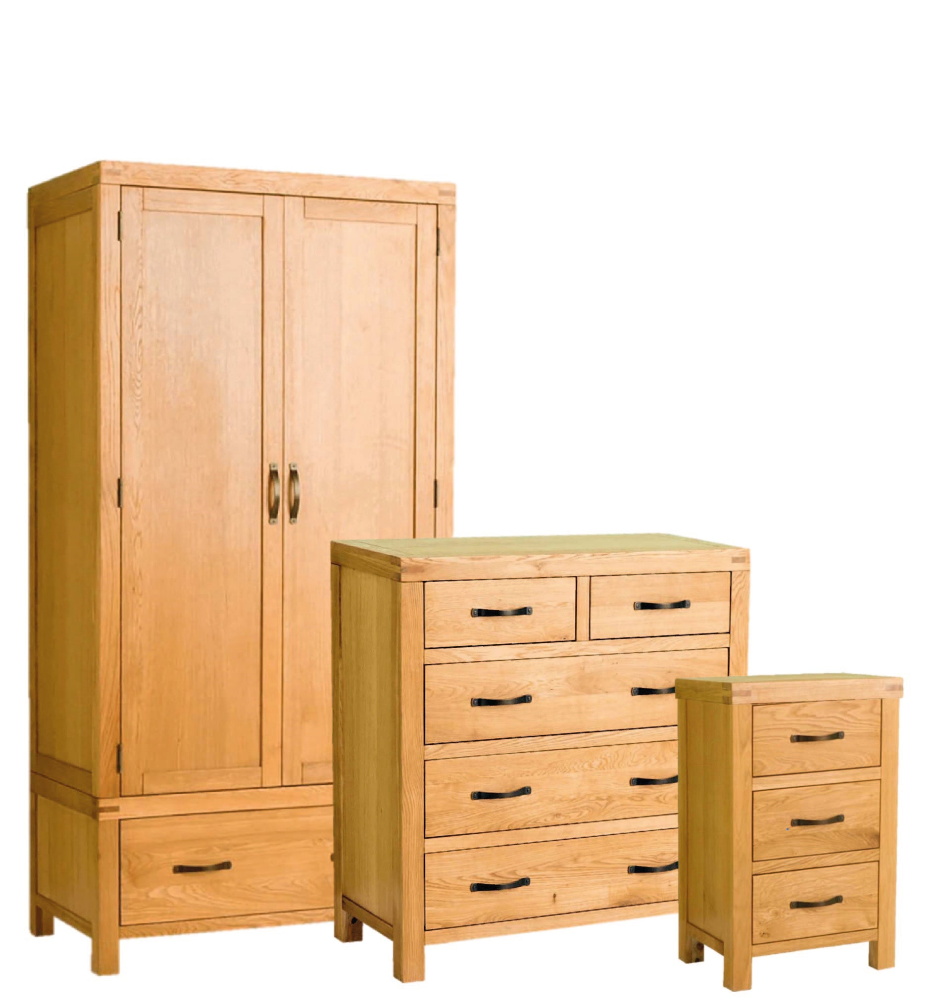 Abbey Waxed Oak Bedroom Furniture Set by Roseland Furniture