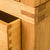 Base joint view for The Abbey Waxed Oak Bedroom Furniture Set Double Wardrobe