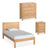 The Abbey Light Oak Small Double Bed Set by Roseland Furniture