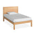 Small Double bed from The Abbey Light Oak Small Double Bed Set by Roseland Furniture