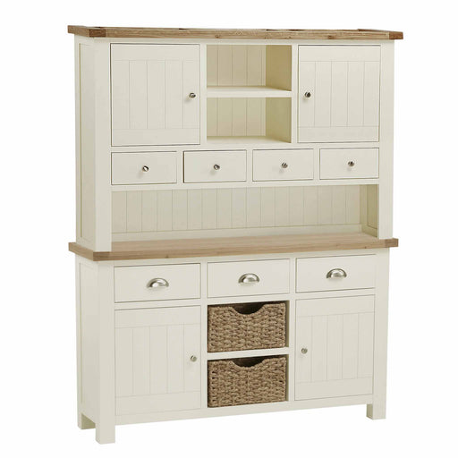 The Daymer Cream Large Wooden Kitchen Dresser from Roseland Furniture