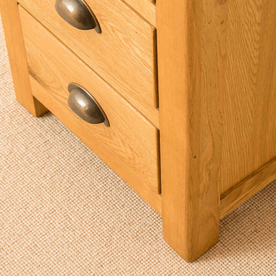 Foot of Roseland Oak Bedside Table
