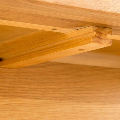 Underneath view of Roseland Oak Extendable Dining Table