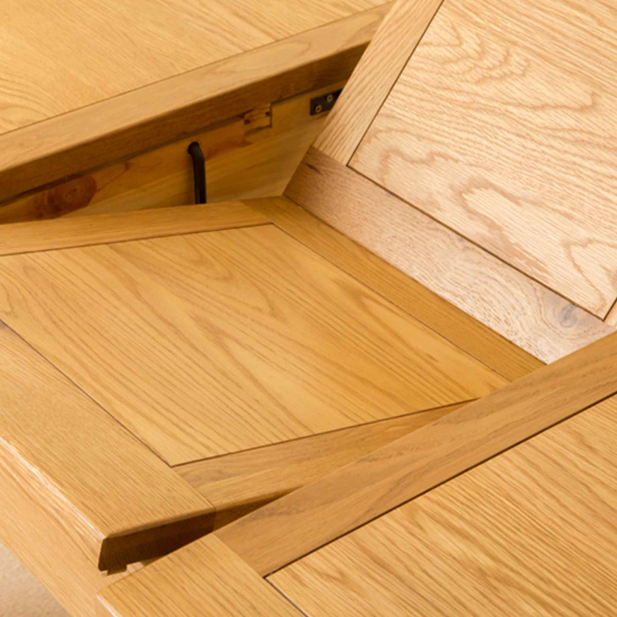 Fold-out section of Roseland Oak Extendable Dining Table