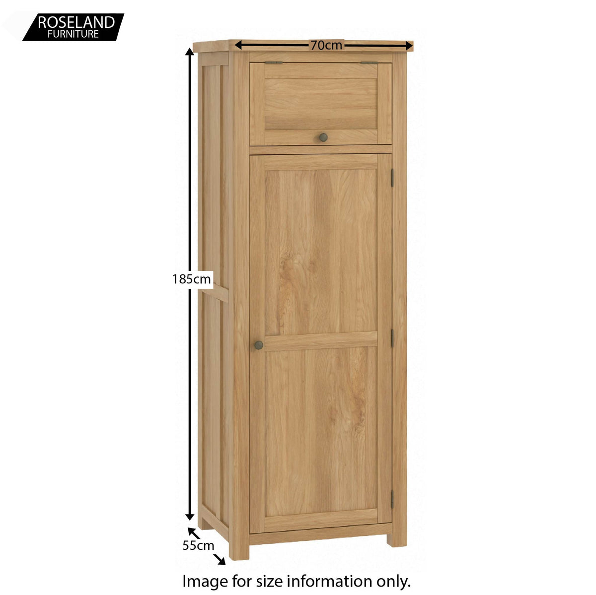 Roseland Oak Small Larder Unit - Size Guide
