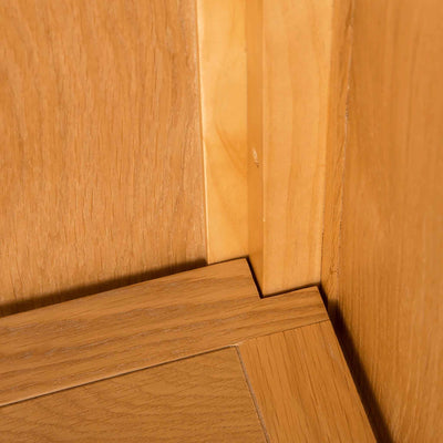 Inside base of Roseland Oak Double Wardrobe