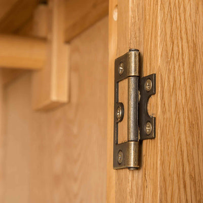 Hinge of Roseland Oak Double Wardrobe