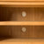 Inside shelves with cable management holes of Roseland Oak 132cm TV Stand