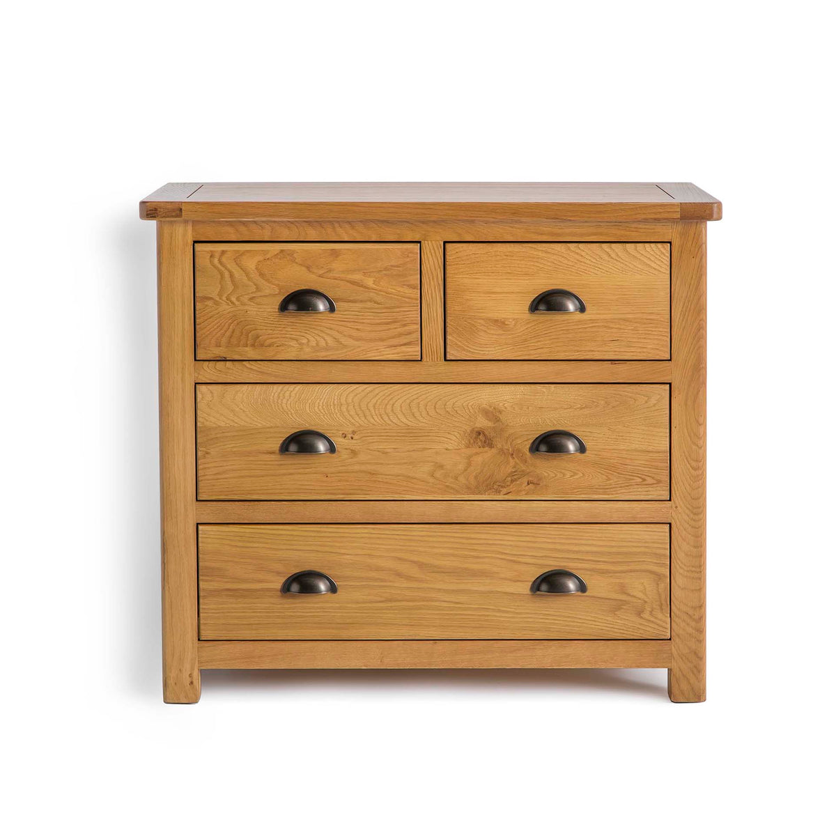 Roseland Oak 2 Over 2 Drawer Chest of Drawers by Roseland Furniture