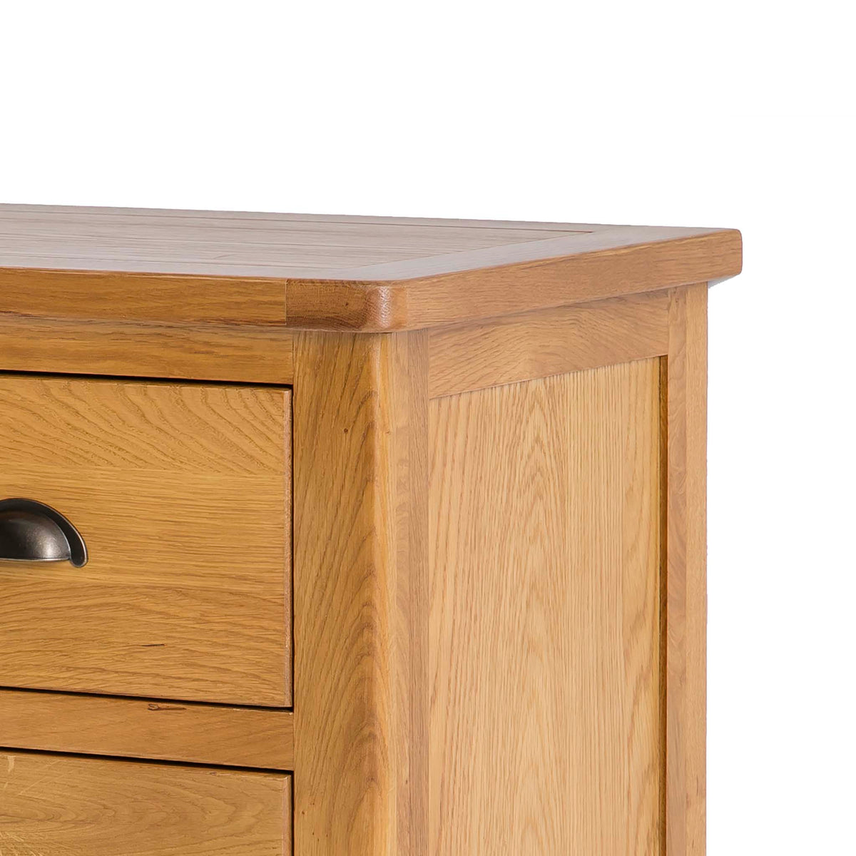 Roseland Oak 2 Over 2 Drawer Chest of Drawers - Close up of top of chest