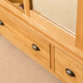 Front of Roseland Oak Triple Wardrobe & Drawers