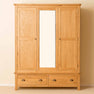 Roseland Oak Triple Wardrobe & Drawers
